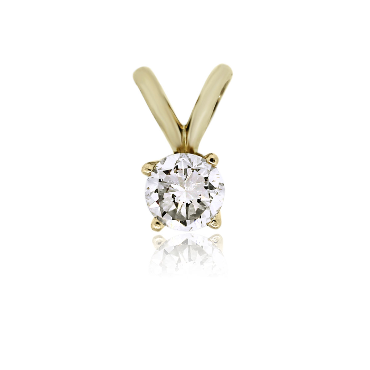 You are viewing this 14k Yellow Gold 0.30ct Diamond Slide Pendant!