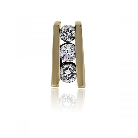 You are viewing this 14k Yellow Gold Diamond Slide Pendant!