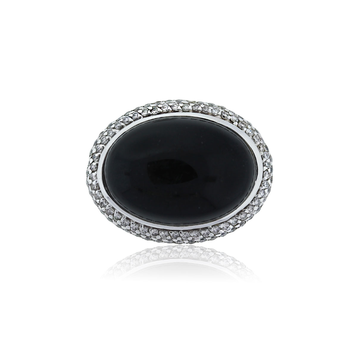 You are viewing this David Yurman Sterling Silver Onyx & Micro Pave Diamond Ring!