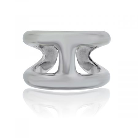 You are viewing this Hermes Osmose Silver Size 59 Ring!