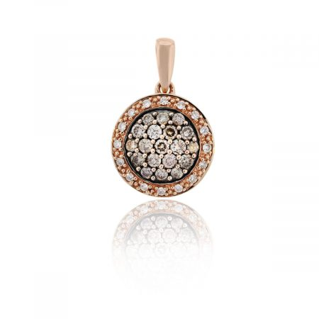 You are viewing this Levian 14k Rose Gold Round Brilliant Diamonds Slide Pendant!