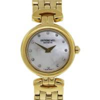 Raymond Weil 18k Gold Plated Mother of Pearl Diamond Dial Ladies Watch