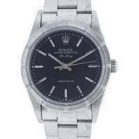 Rolex Air King 14010 Black Dial Stainless Steel Watch