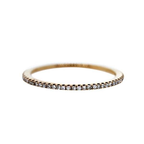 Rose gold stackable ring