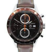 Tag Heuer Carrera CV2013-2 Brown Dial on Brown Leather Strap Watch