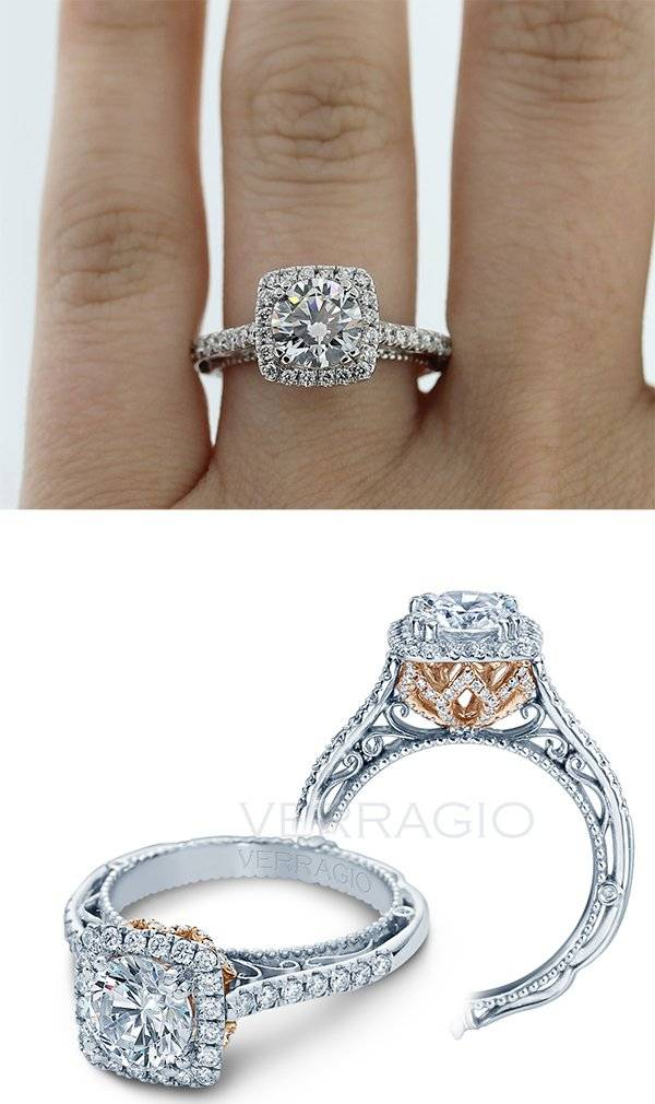 Our Favorite Rose Gold Accented Engagement Rings