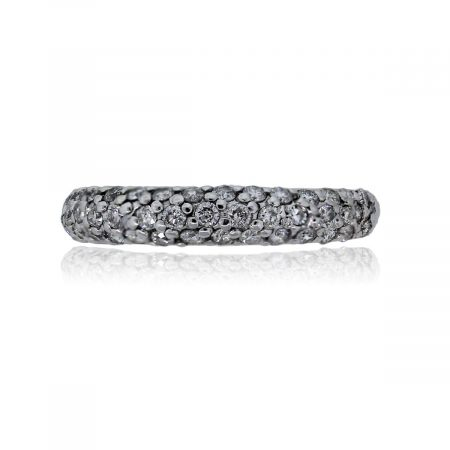 You are viewing this 14k White Gold Round Brilliant Diamonds Band Ring!