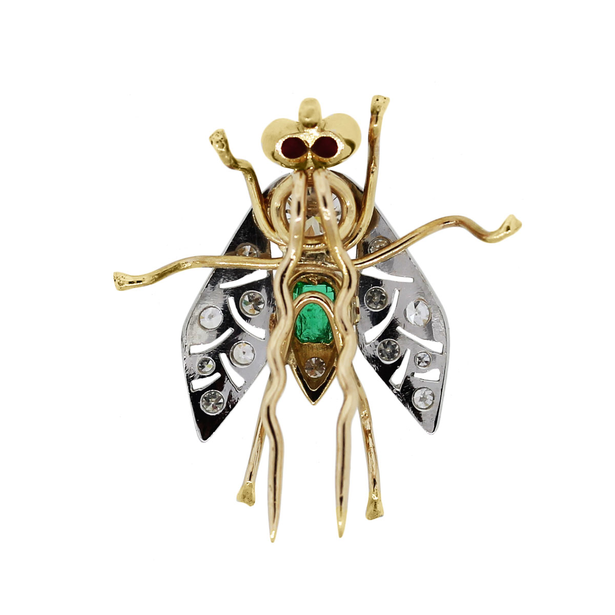14k Two Tone Fly Pin