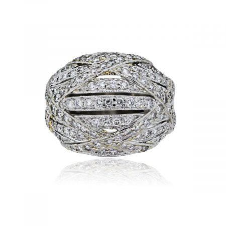 You are viewing this Platinum 1.50ctw Pave Diamond Dome Ring!
