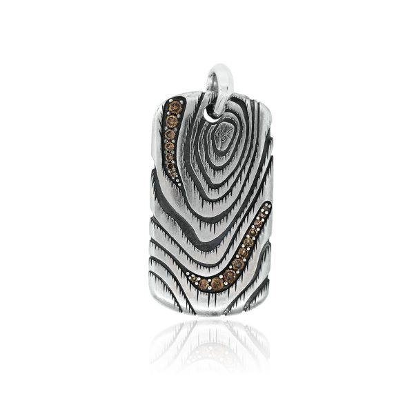 You are viewing this David Yurman Sterling Silver Ironwood Champagne Diamond Pendant!