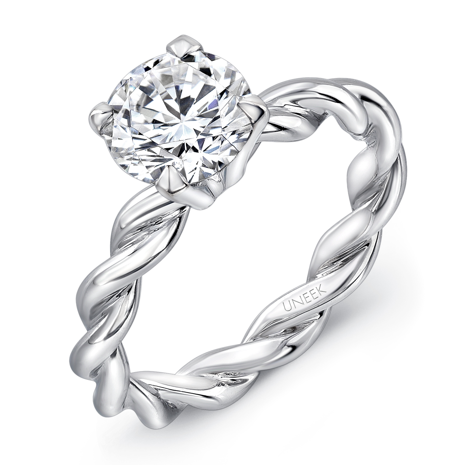 Unique Diamond Engagement Ring Twist