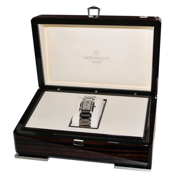 Patek Philippe Twenty 4 4910 Cream Dial Stainless Steel Watch box and papers
