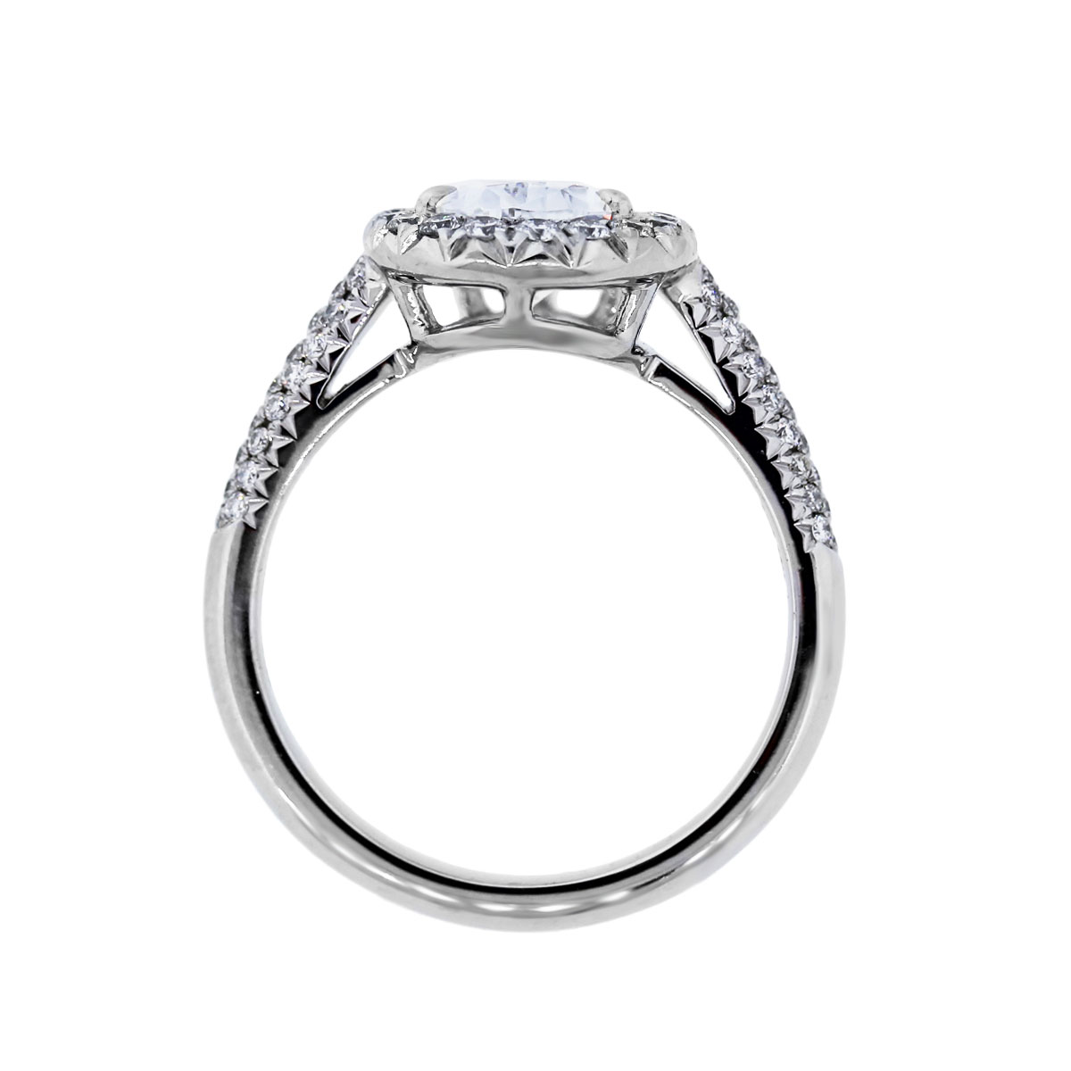 Platinum 1.67ct Pear Shape Diamond GIA certified Engagement Mounting