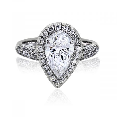 You are viewing this Platinum 1.67ct Pear Shape Diamond GIA certified Engagement Ring!