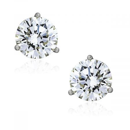 You are viewing these 14k White Gold Round Brilliant 4.20ctw Diamond Stud GIA Cert. Earrings!