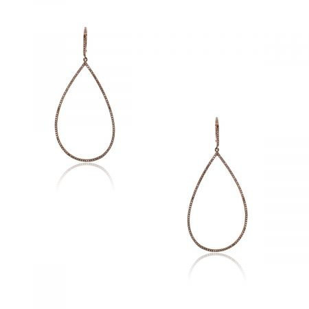 You are viewing these 14k Rose Gold and Diamonds Tear Drop Earrings!