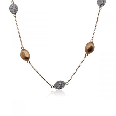 """You are viewing this 18k Rose Gold Diamond 36"""" Station Necklace!"""