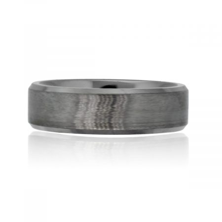 You are viewing this Titanium Fine Brushed Texture 7mm Gents Wedding Band Ring!