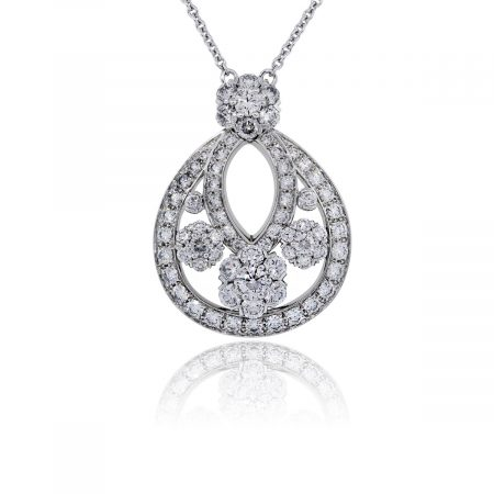 You are viewing this Van Cleef & Arpels Platinum and Diamond Snowflake Pendant Necklace!