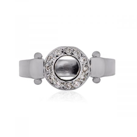You are viewing this 18k White Gold .10ctw Diamond Ring!