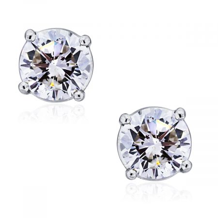You are viewing these 14k White Gold Round Brilliant 2.02ctw Diamond Stud Earrings!