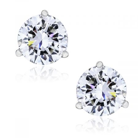 You are viewing these 14k White Gold Round Brilliant 2.20ctw Diamond Stud Earrings!