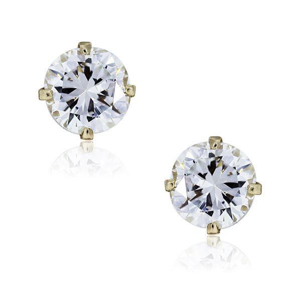 You are viewing these 14k Yellow Gold Round Brilliant Diamond Stud Earrings!