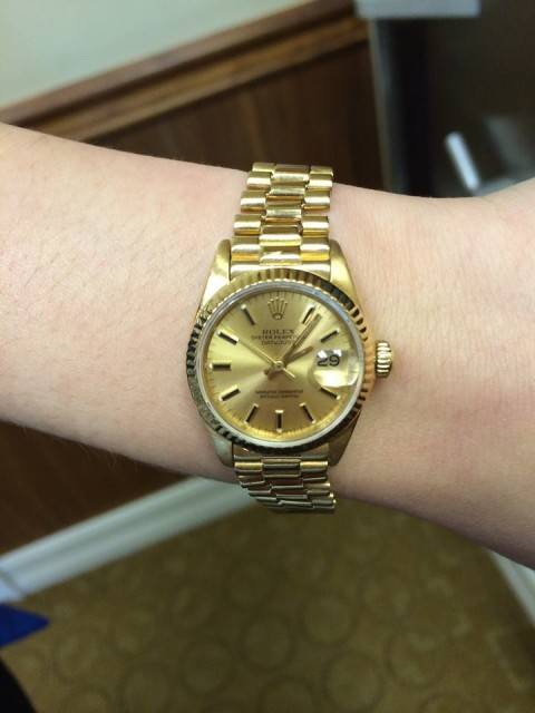 Ladies Yellow GOld ROlex Sale for Cyber Monday