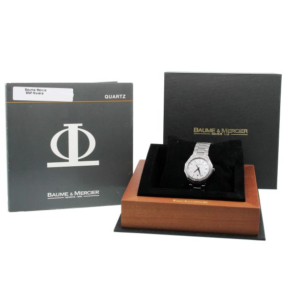 Baume & Mercier Riviera 8597 Diamond Dial and Bezel Ladies Watch box and papers
