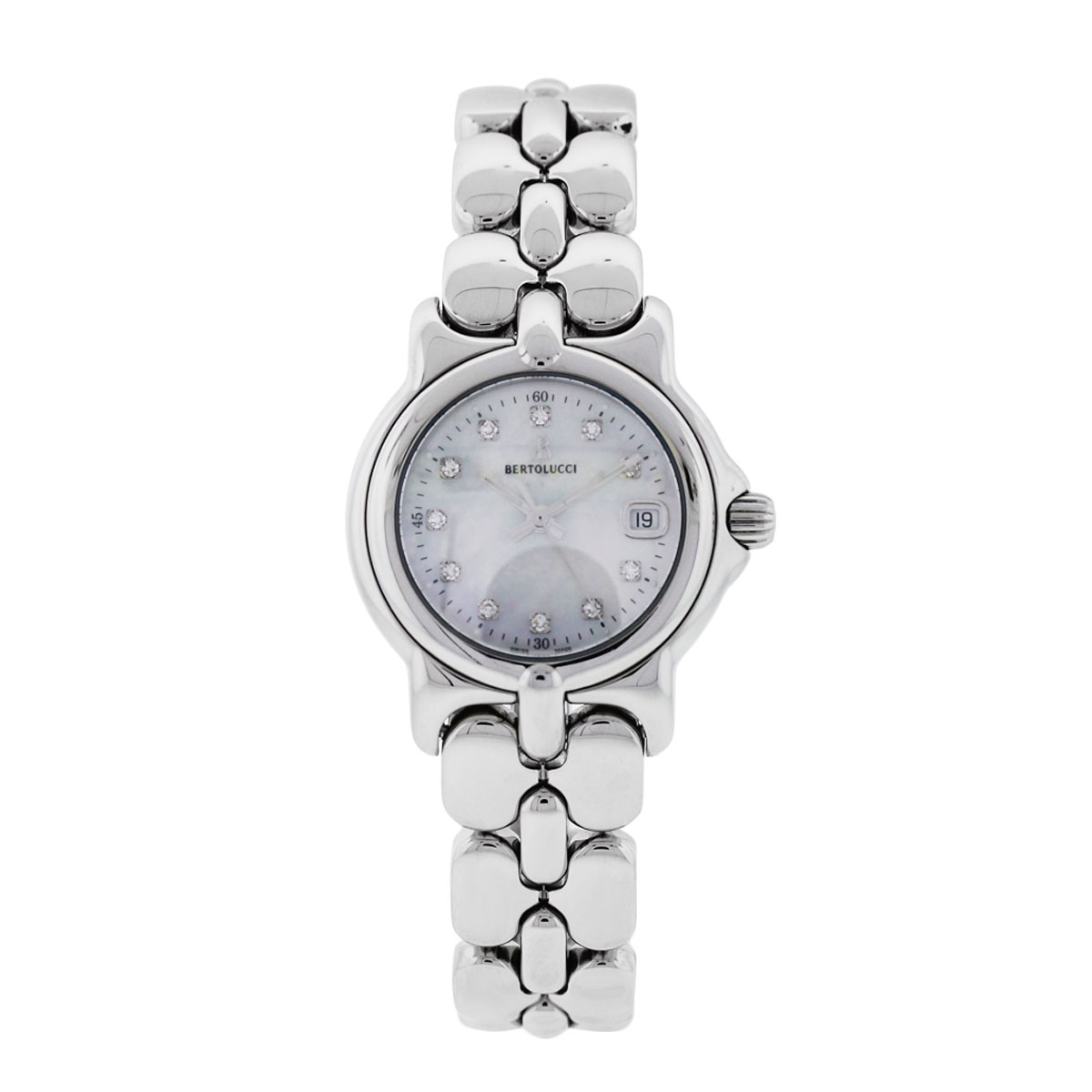Bertolucci Vir Mother of Pearl Diamond Dial Watch