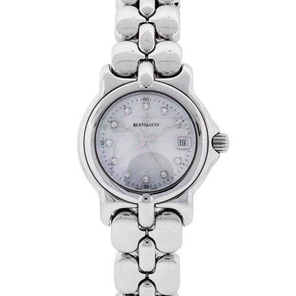 You are viewing this Bertolucci Vir Mother of Pearl Diamond Dial Ladies Watch!