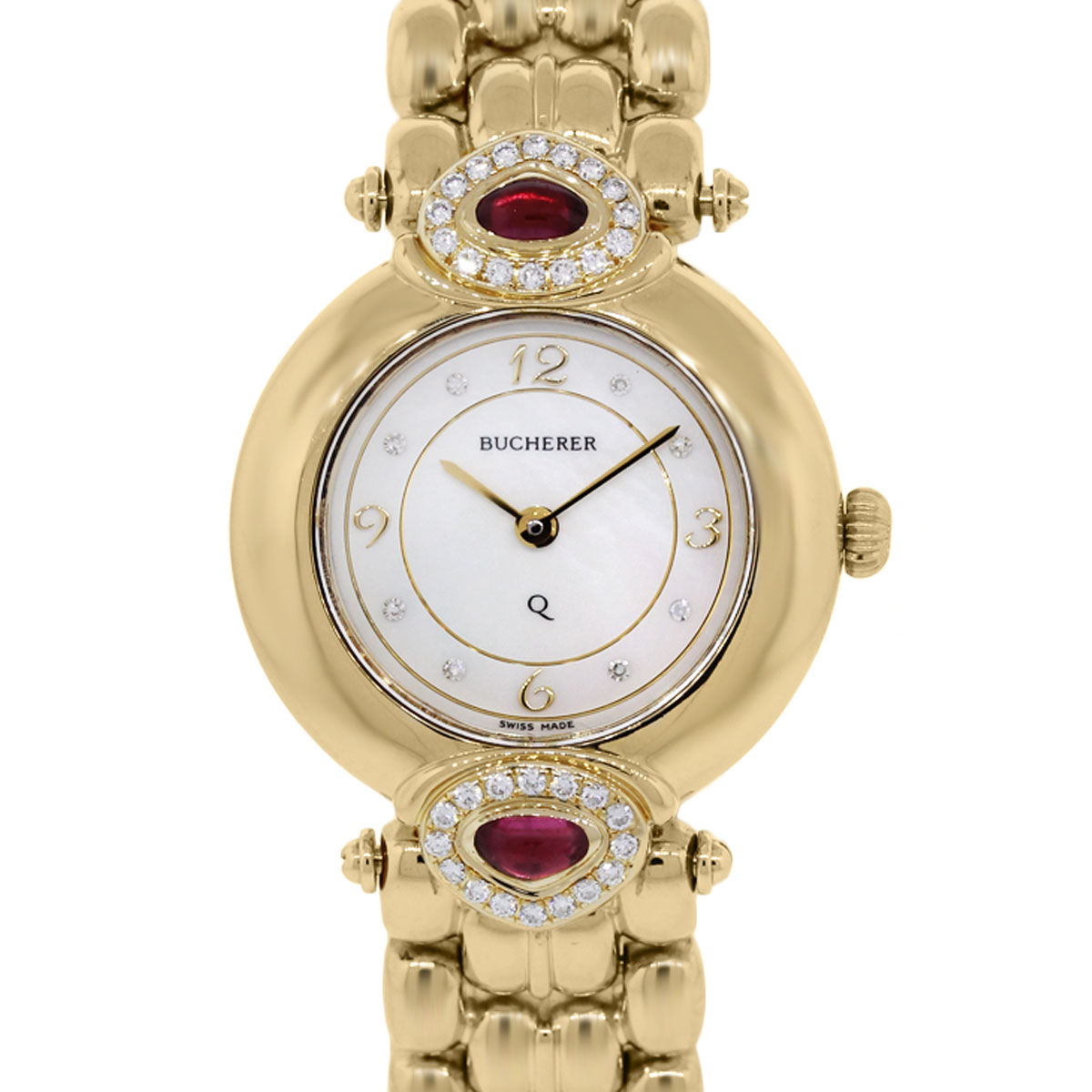 You are viewing this Bucherer Paradiso 18k Yellow Gold Ruby Diamond Watch!