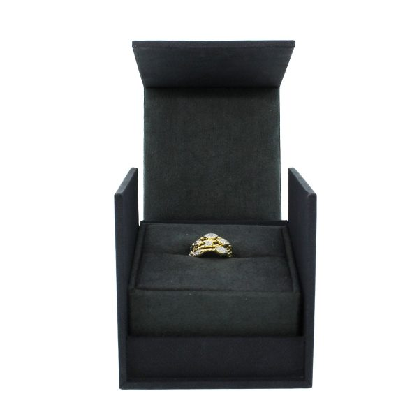 David Yurman Confetti 18k Yellow Gold Diamond Ring box