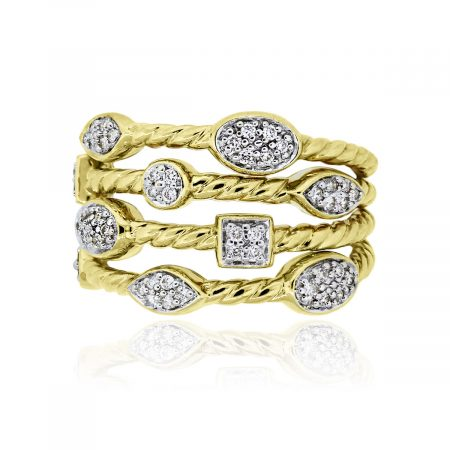 You are viewing this David Yurman Confetti 18k Yellow Gold Diamond Ring!