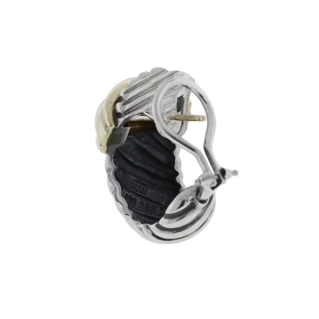 david yurman sterling silver and 14k yellow gold cable