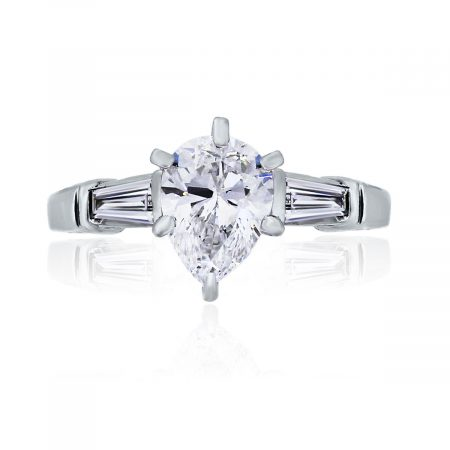 You are viewing this Platinum and 18k Yellow Gold 1.01ct GIA Cert. Pear Shape Diamond Ring!