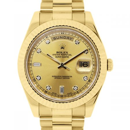 You are viewing this Rolex 218238 Day Date 2 Champagne and Diamond Dial Watch!