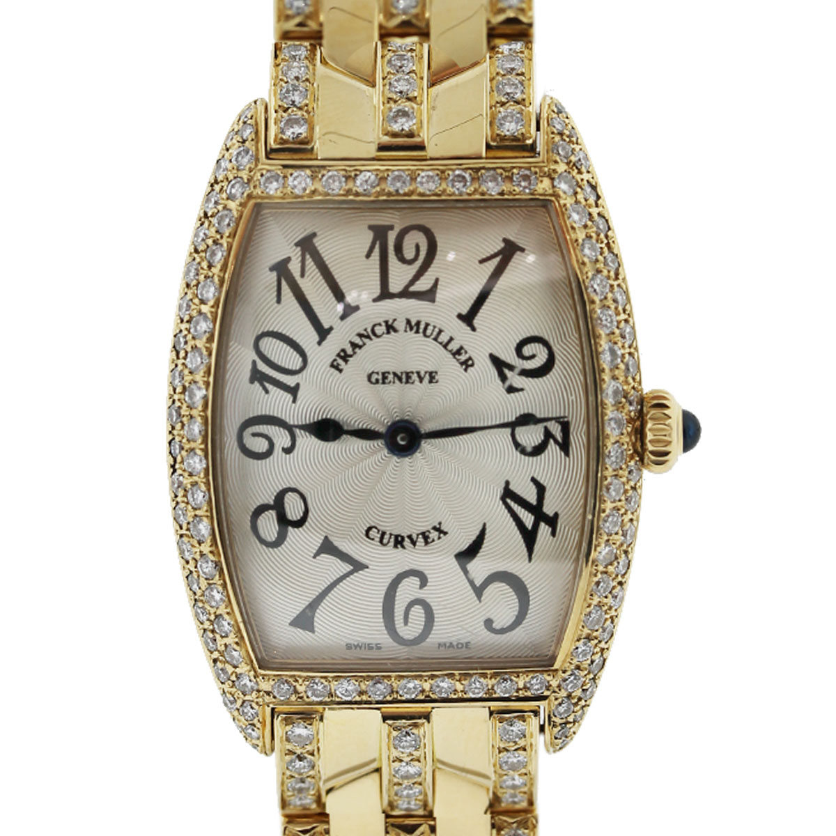 Franck muller curvex aftermarket all diamond no 521 ladies watch for Franck muller watches
