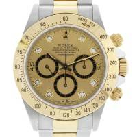 Rolex Daytona NIB 16523 Diamond Dial Two Tone Mens Watch