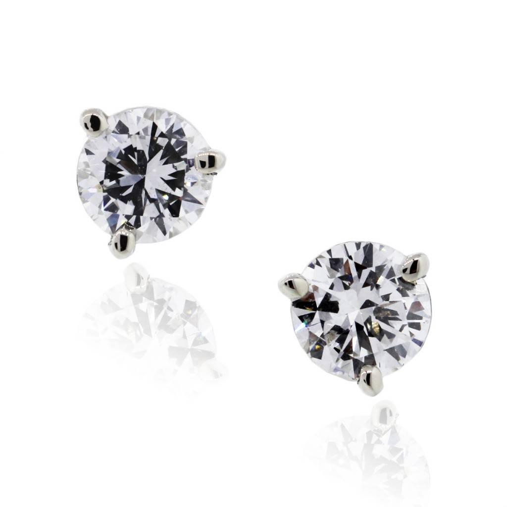 14k Gold 1 42ctw Gia Certified Diamond Stud Earrings