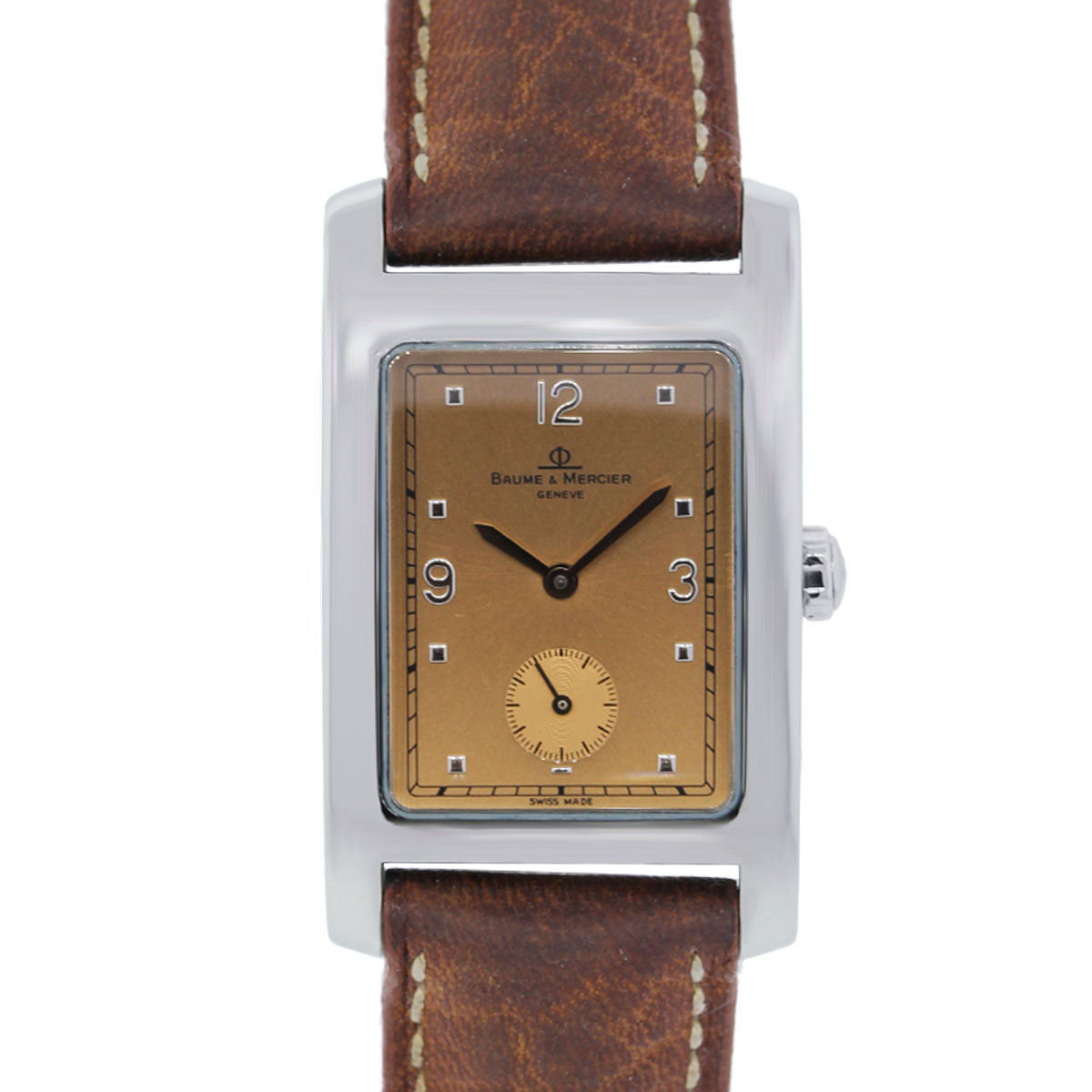 You are viewing this Baume Mercier Hampton on Leather Strap Watch!