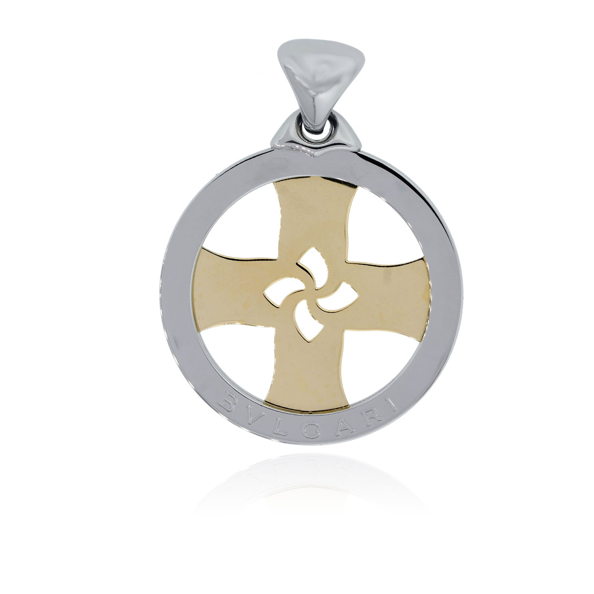 You are viewing this Bulgari Two Tone Large Windmill Slide Pendant!