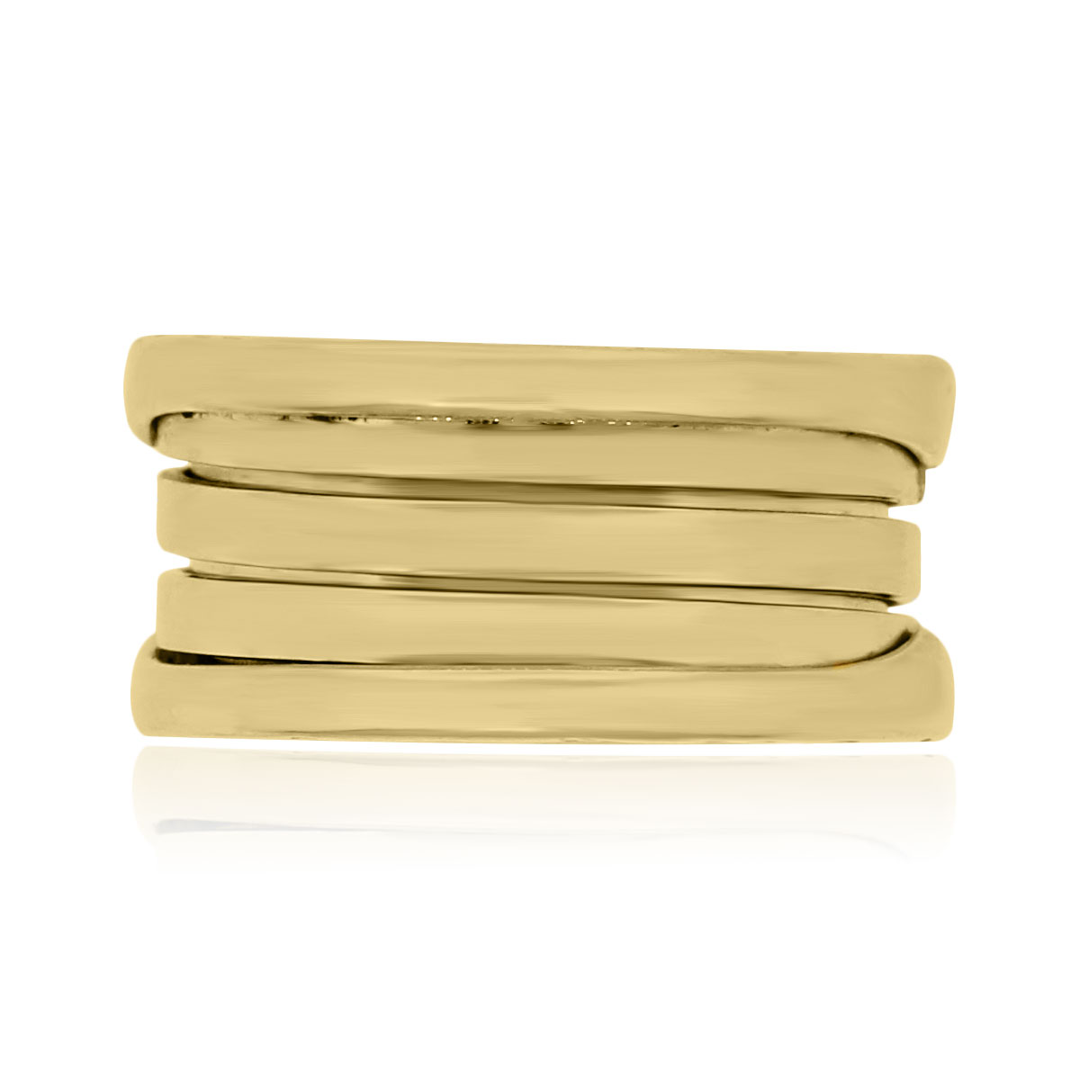 You are viewing this Bulgari 18k Yellow Gold 4 Row Band Ring!