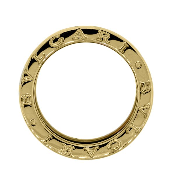 Bulgari Yellow Gold 4 Row Band Ring