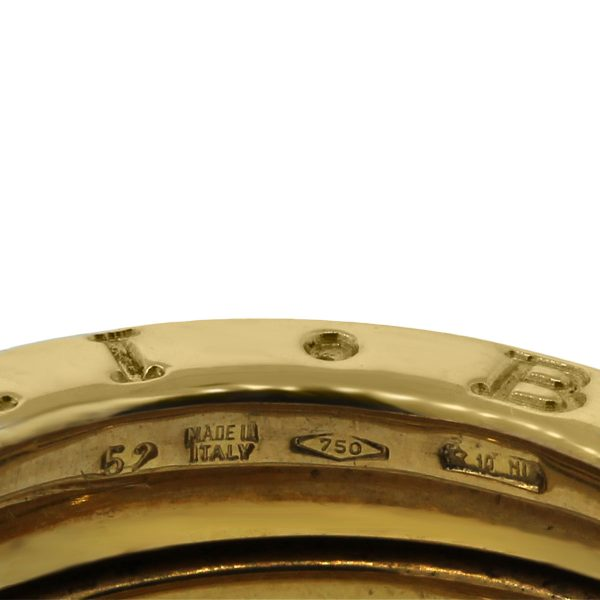 Bulgari 18k Yellow Gold 4 Row Ring