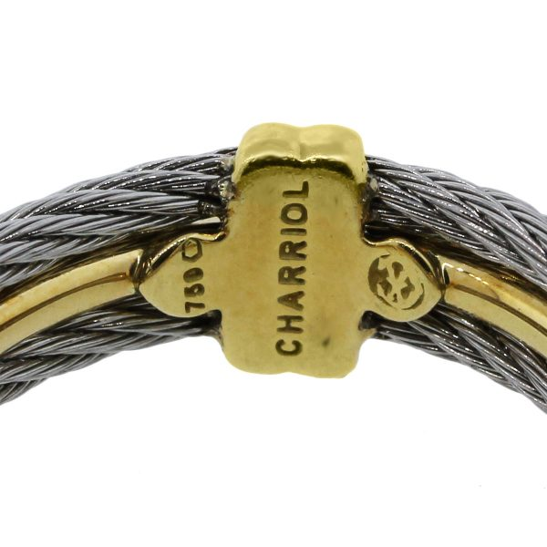Charriol Two Tone Cable Mens Ring