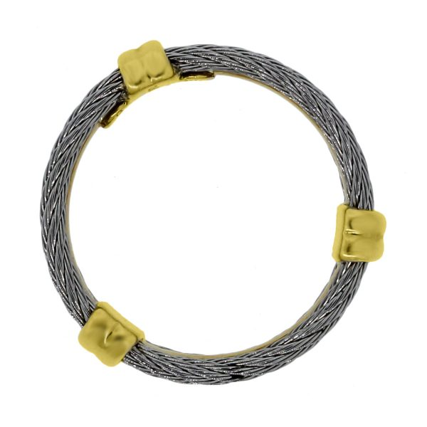 Charriol Two Tone Cable Band Ring