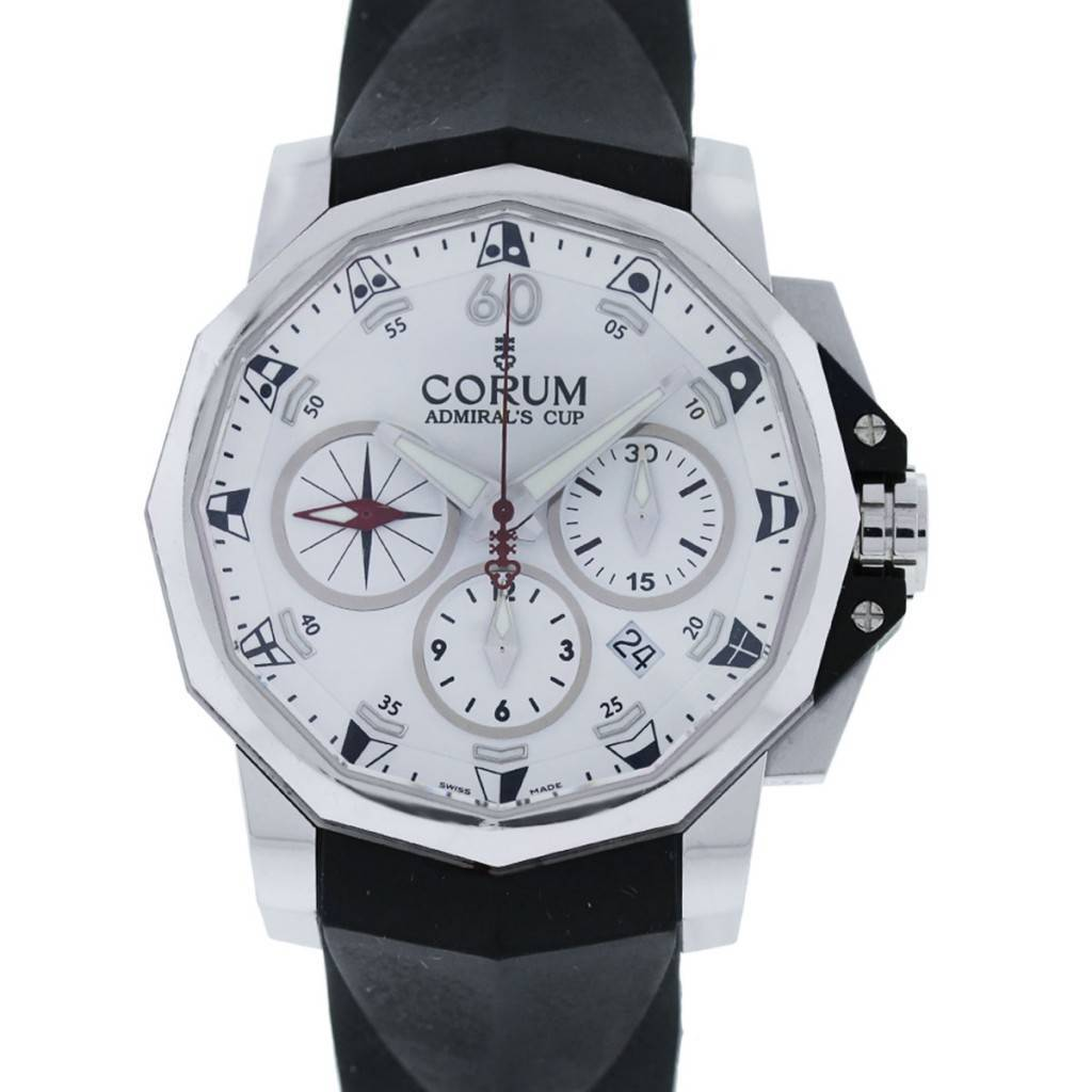Corum admiral 39 s cup chronograph stainless steel limited edition watch for Corum watches