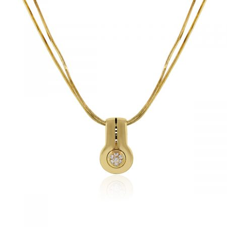 You are viewing this Di Midolo 18k Yellow Gold Diamond Cluster Pendant Necklace!