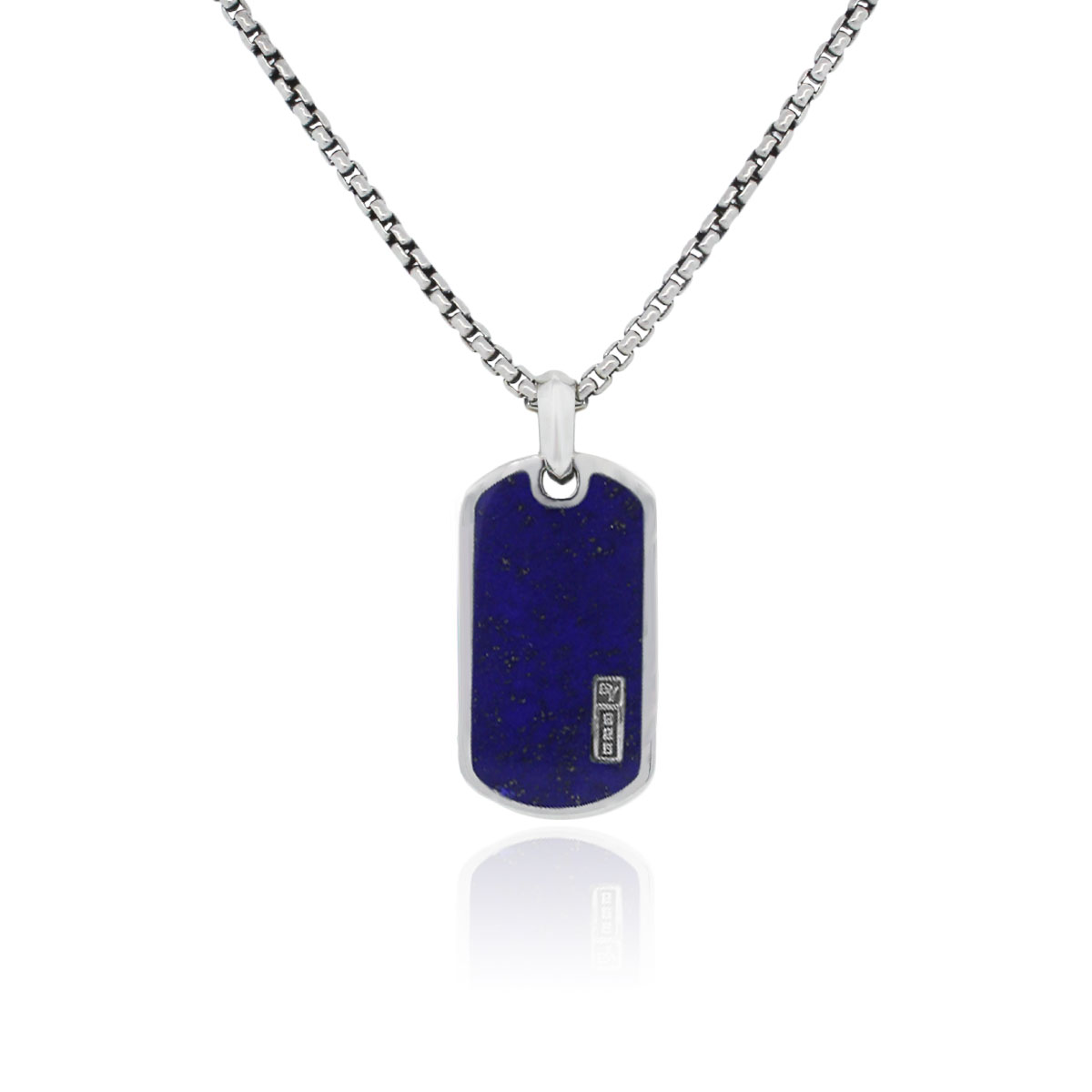 You are viewing this David Yurman Lapiz Small Dog Tag Slide Pendant Necklace!